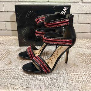 Sam Edelman Alton Zipper Leather Heeled Sandal